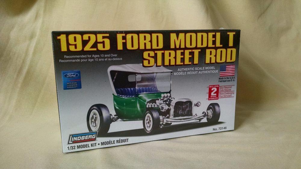 FORD MODEL T STREET ROD 1925 MODEL KIT LINDBERG 72146 2006 NEW 1:32 ...