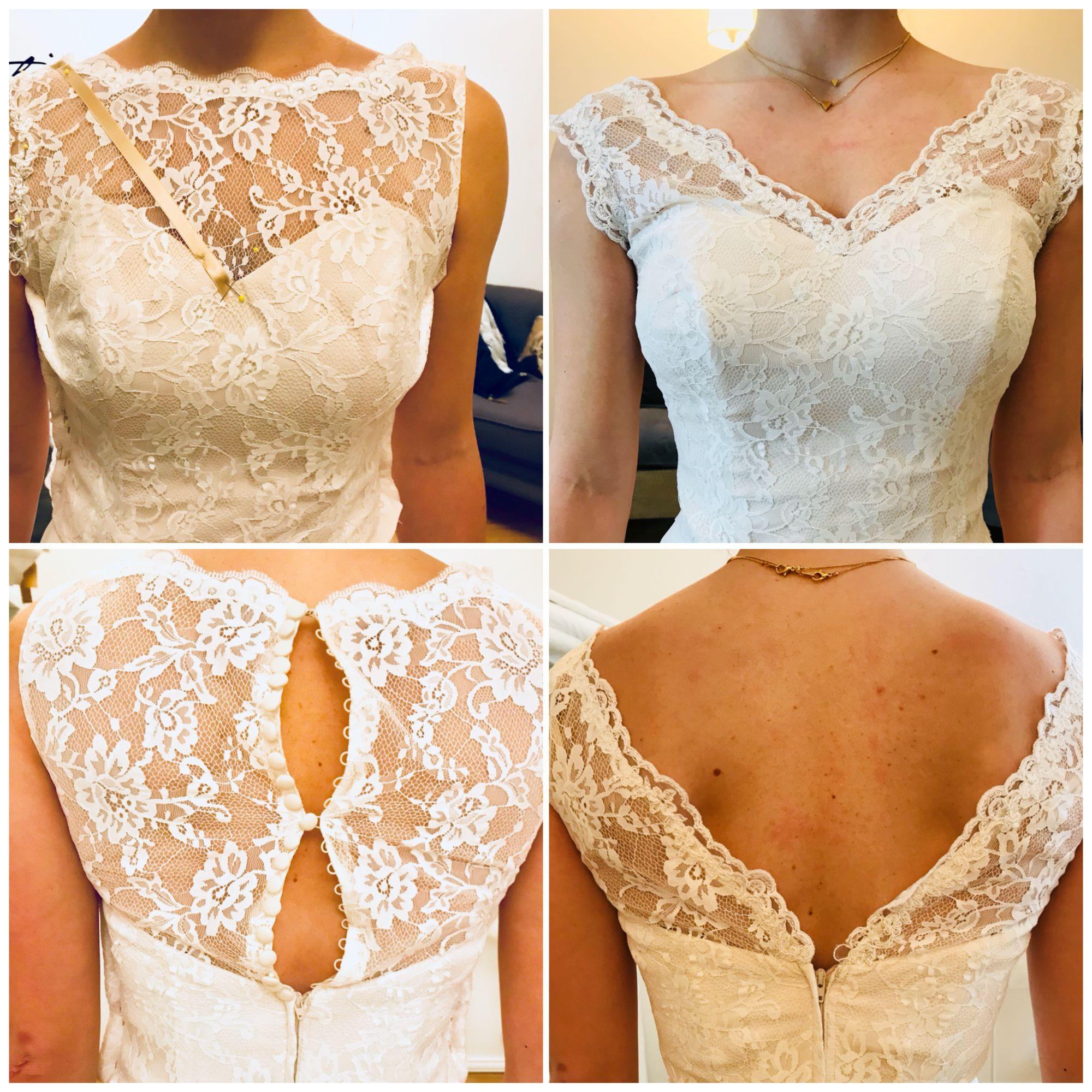 Brautkleid Anderung Braut Hochzeitskleid Spitze Brautkleid