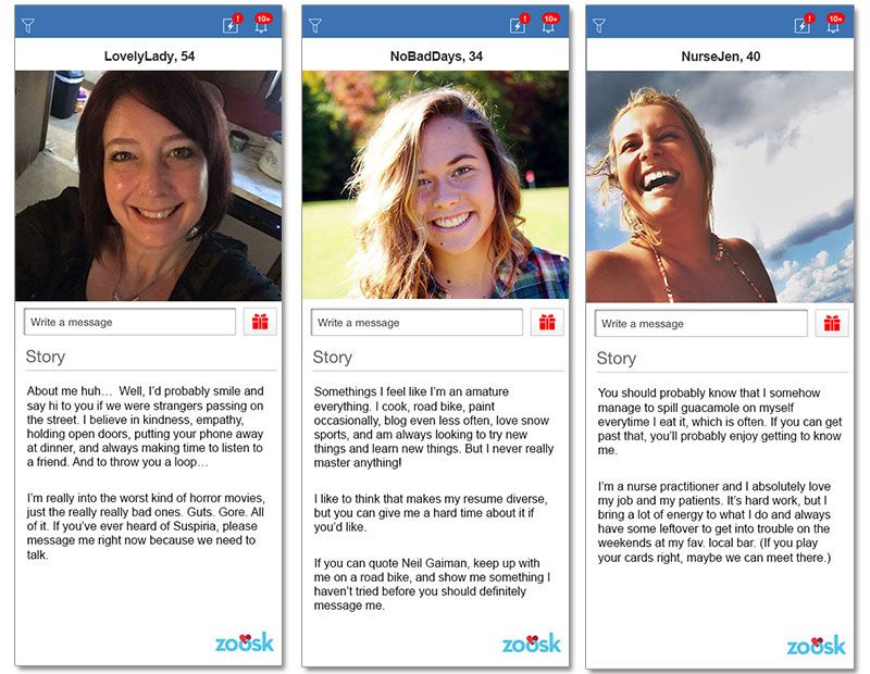 Examples of dating profiles for females