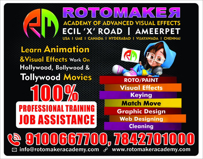 Vfx Paint Training In Hyderabad At Rotomaker Academy Learn Animation Web Design Jobs Academy