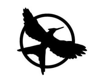 Mockingjay Symbol Black And Mockingjay Symbol Hunger Games