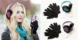 Techie Earmuff speakers with free touch gloves $14.95 / great gift for someone that uses there phone a lot !