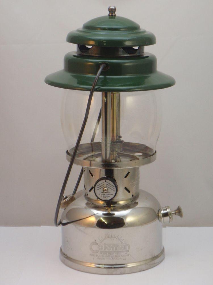 Coleman Canada Model 237 Kerosene Lantern 8/58 Makers Of Camping Lamp Stove  Iron #