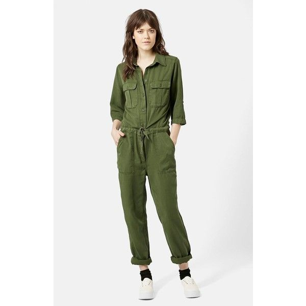 a1ca5d4da96 Topshop  All in One  Utility Jumpsuit ( 105) ❤ liked on Polyvore featuring  jumpsuits