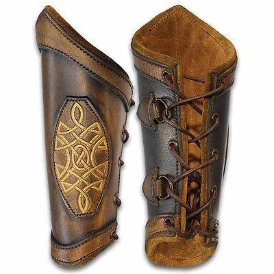 MEDIEVAL Renaissance Celtic PIRATE GAUNTLET Leather NEW