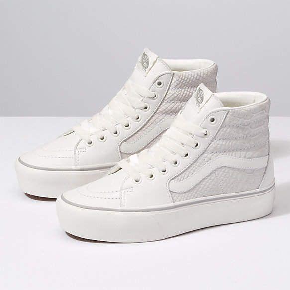 a85bf4b48 Leather Sk8-Hi Platform 2.0 Skate Highs, Platform Vans, Exclusive Sneakers,  Vans