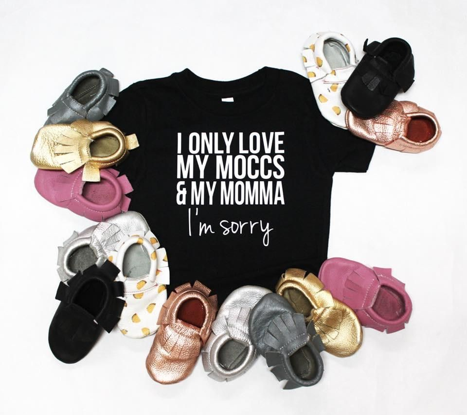 Moccs and my momma youth tee