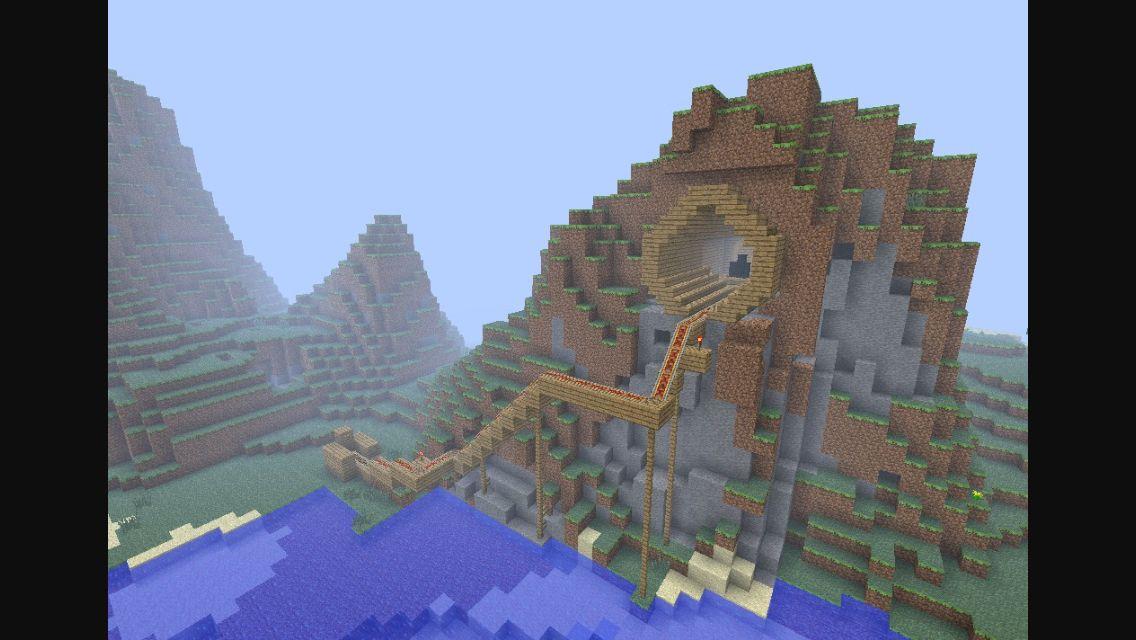 Minecraft Cave Rollercoaster Minecraft Pinterest - Minecraft rollercoaster spielen