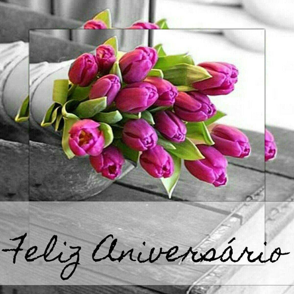 Resultado de imagem para feliz aniversario com flores
