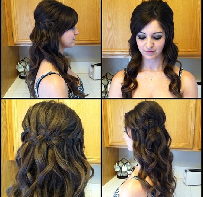 Hairstyle For Wedding Front View: Waterfall Braid Front View Picture Without The Teased Area