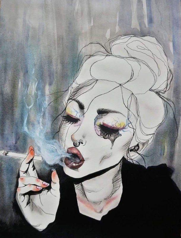 aesthetic art cigarette drawing favim com 4490962 jpeg 610a 802