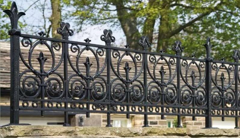 Wrought Iron Wall Top Railings Square Bar Vx Iron Railing