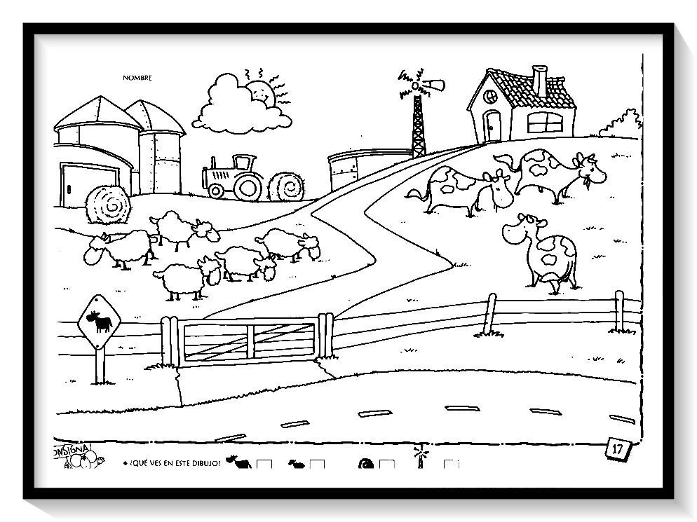 Dibujos de PAISAJES para colorear en 2020   Paisaje para ...