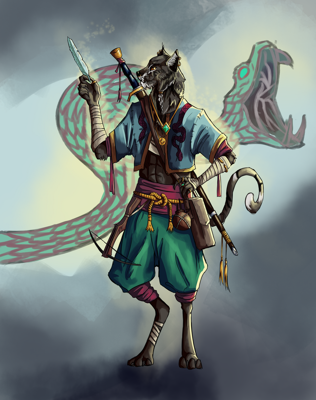Art Oc Z Aiq The Truthful My Compulsively Lying Tabaxi Monk Dnd Monk Dnd Dungeons And Dragons Homebrew Character Art Tabaxi kensei monk build review. dungeons and dragons homebrew