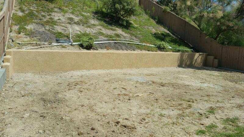 Concrete Patio Construction Repair Block Wall Concrete Patio