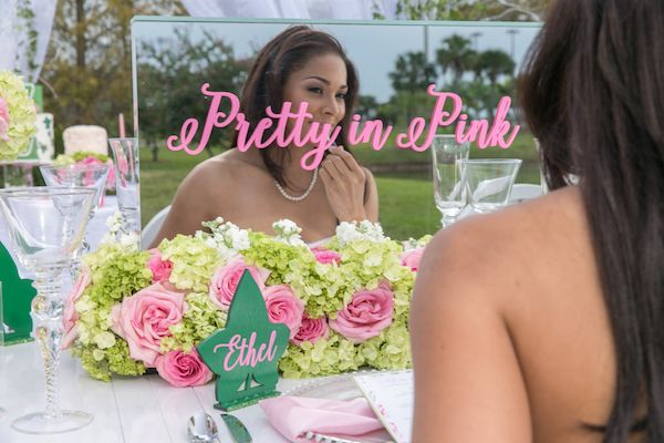 Oh So Pretty Alpha Kappa Alpha Party Inspiration by Chantell Event Design - Perfete