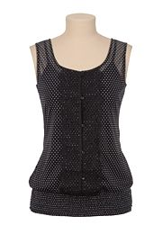 Button Front Dot Print Top - maurices.com
