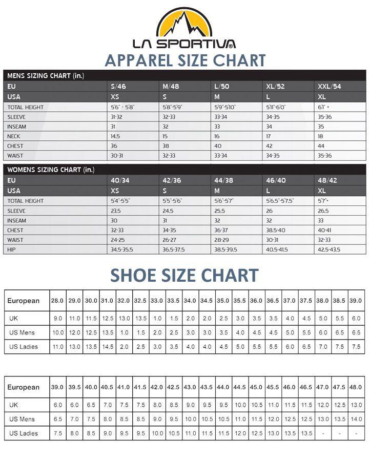 La Sportiva Size Chart