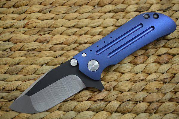 Direware M8 Flipper Titanium Frame Tumbled Blue Black Ceramic Flats Sold Flipper Ceramics Tumbling