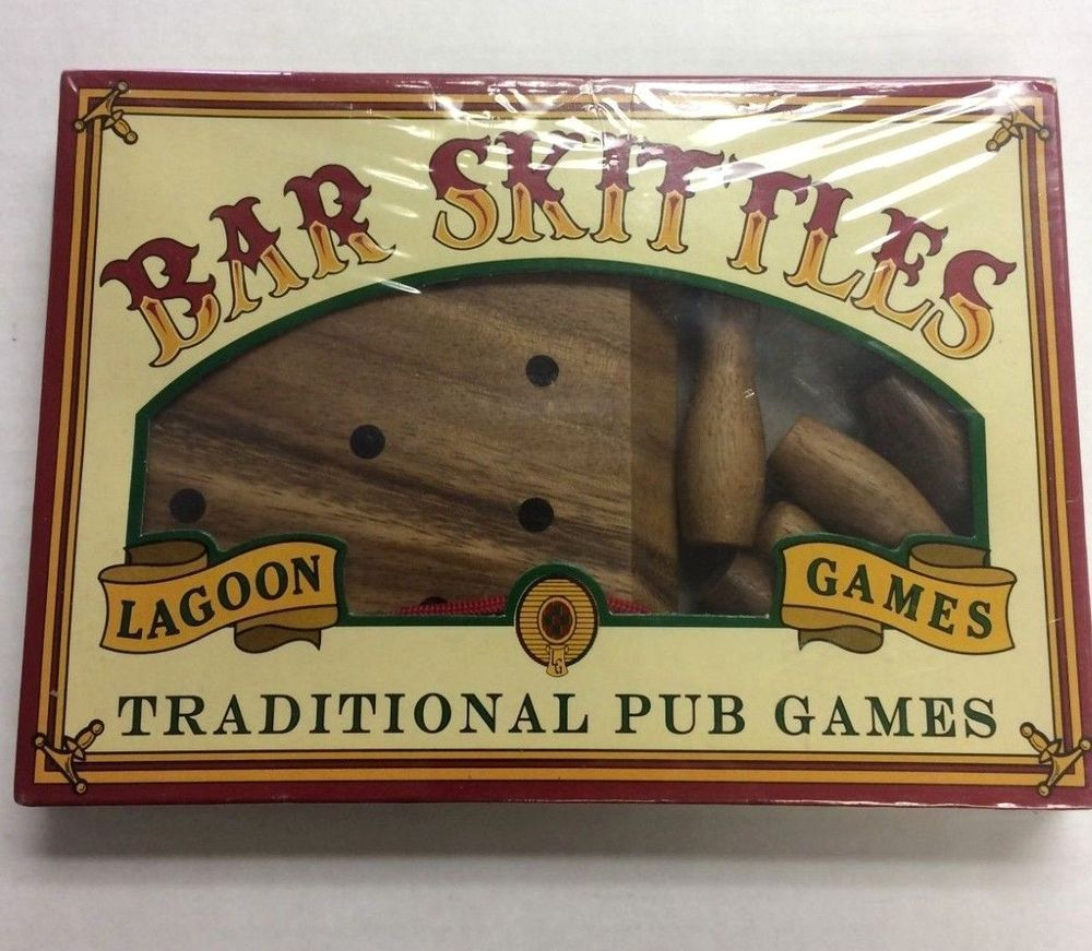 Wooden Bar Skittles Lagoon Traditional Pub Games Handmade New