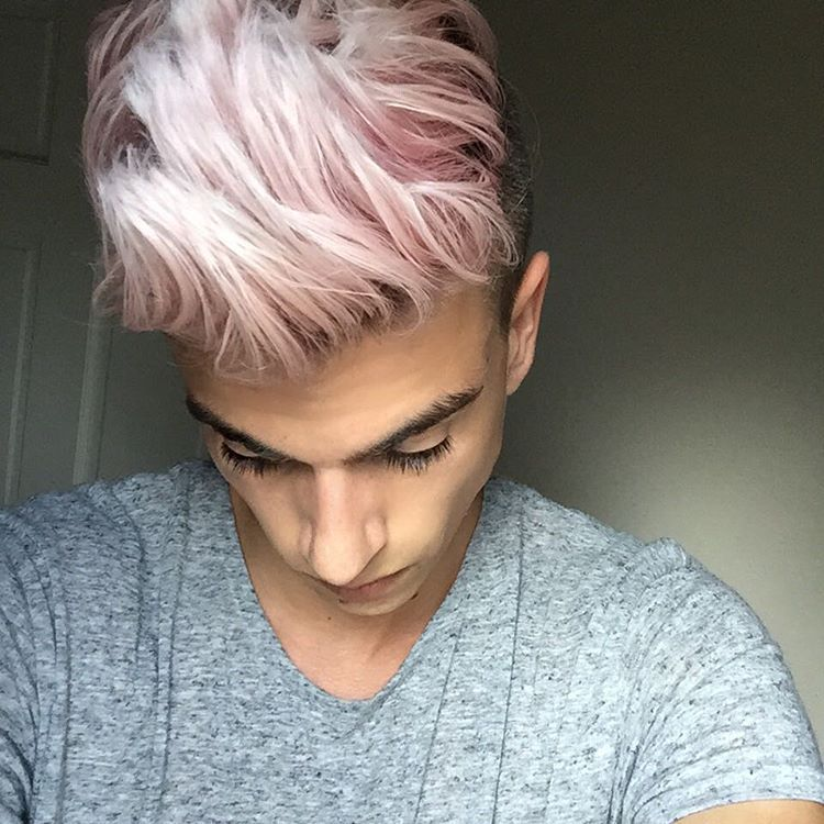 Christopher Ballard On Instagram Sometimes I Miss My Crazy Hair Then I M Like Nahhhh Mens Hair Colour Men Hair Color Hair Color Pink