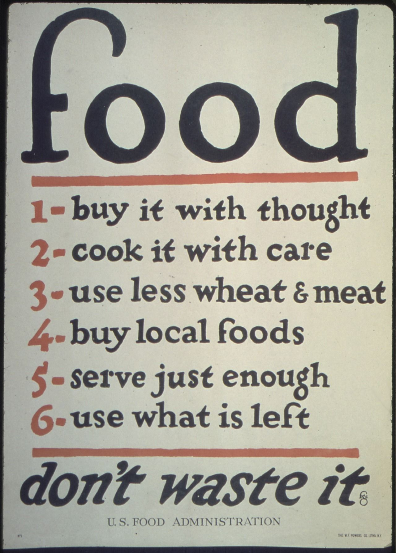 Modfarm A Poster Put Out By The U S Food Administration In 1917
