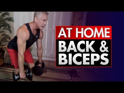 At Home Dumbbell Back And Bicep Workout (SHORT & INTENSE!) - YouTube #bicepsworkout