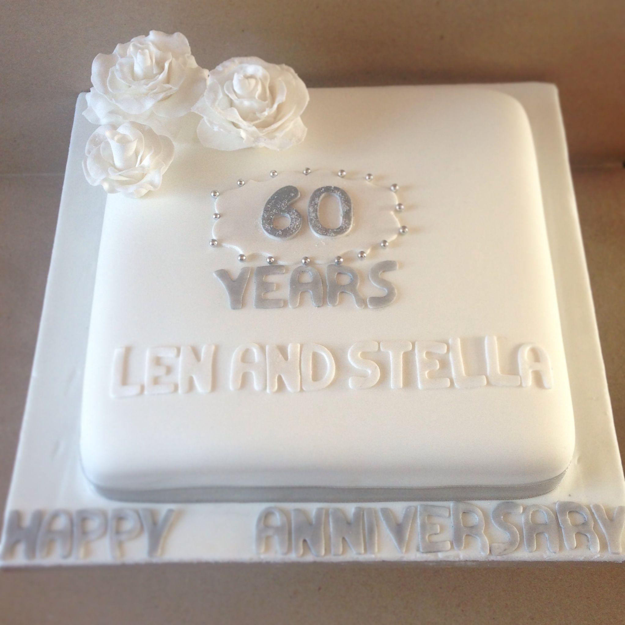 Diamond Anniversary cake, celebrating 60 years married. | 60th ...