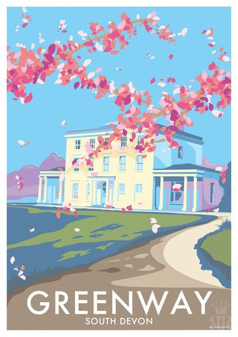 Greenway House - A2 Poster Print (594mm x 420mm) - beckybettesworth