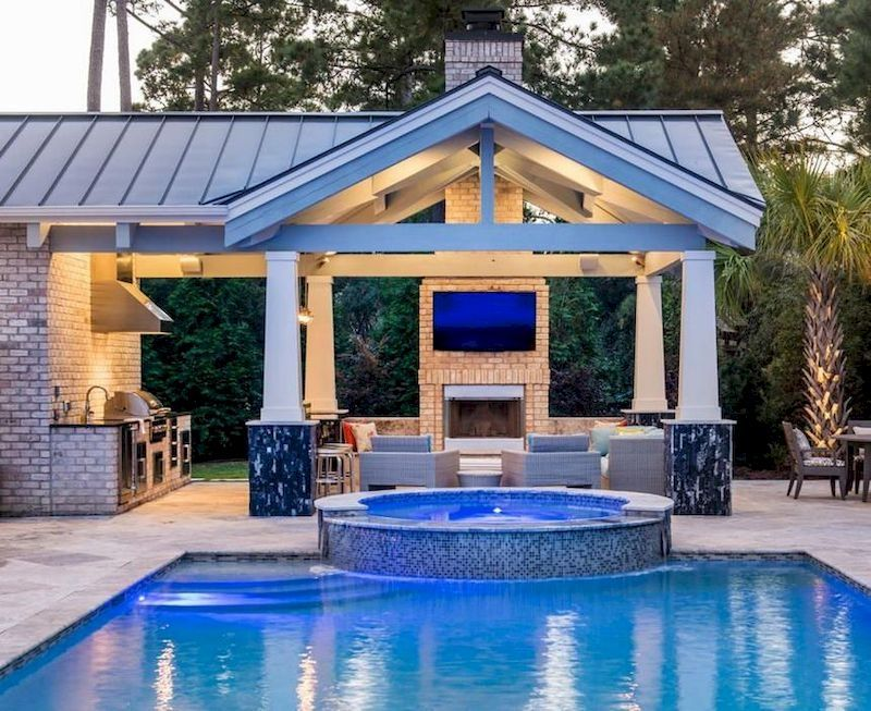 78 Cozy Swimming Pool Garden Design Ideas On A Budget Decorhit Com Pool House Designs Pool Gazebo Swimming Pools Backyard