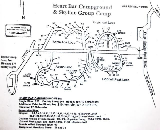 Map of Heart Bar Campground Image  The Great Outdoors  Pinterest
