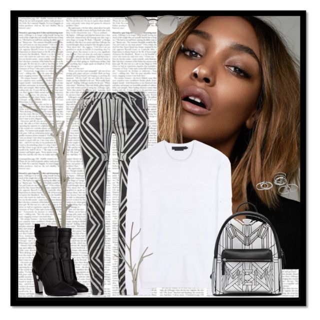 """Jourdan Dunn"" by aliakolli ❤ liked on Polyvore featuring Currey & Company, sass & bide, Alexander Wang and Fendi"