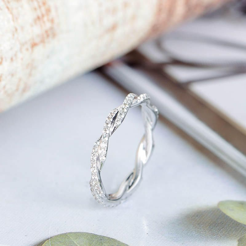 Twisted Wedding Band Women Diamond Wedding Ring White Gold Etsy Diamond Wedding Bands Twist Wedding Band Etsy Wedding Rings
