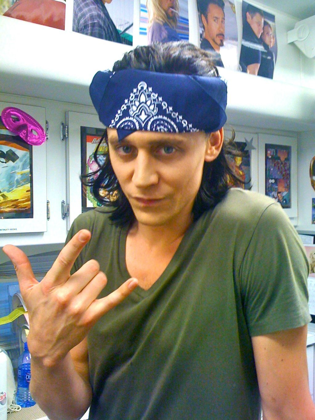 A year ago. June 2011, Albuquerque, NM. USA. #avengers [from Tom Hiddleston twitter]