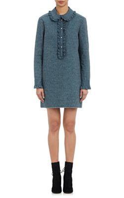 PHILOSOPHY DI LORENZO SERAFINI Ruffle-Trimmed Chambray Shirtdress. #philosophydilorenzoserafini #cloth #shirtdress