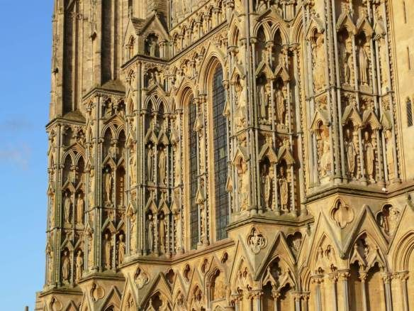 Exterior view begun c. 1230 Photo  Wells Cathedral,