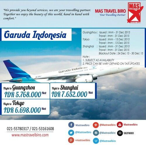 Garuda Indonesia Promo ke 3 Kota Favorit di Asia , Mulai dari Rp 5.768.000/pax sudah bsa ke Guangzhou , Pesan Sekarang !! #promo #december #garudaindonesia