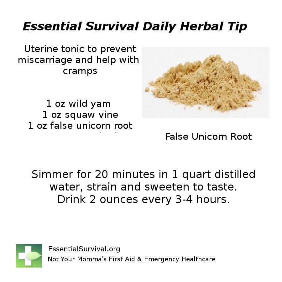 Use wild yam squaw vine and false unicorn root for a for Fish oil during pregnancy first trimester