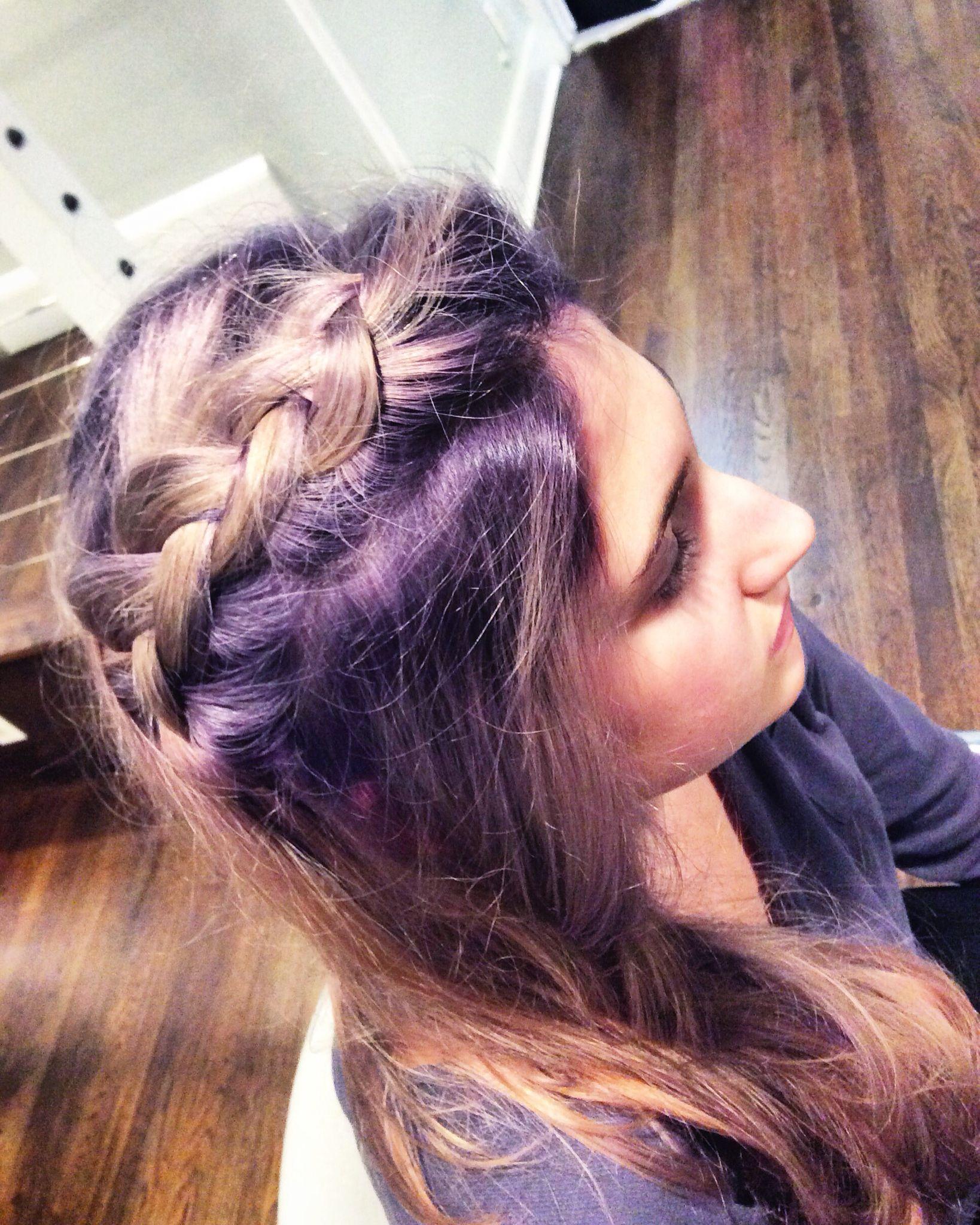 Purple hair @pixiesalonnj