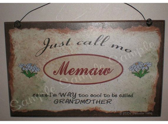 """There/'s No Place Like Mamaw/'s House 5/""""x10/"""" Grandmother Sign Plaque"""