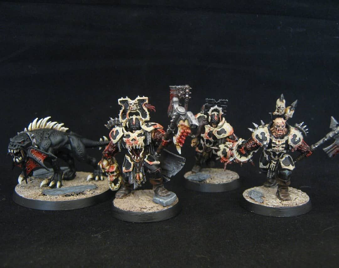 Part Of A Khorne Bloodbound Commission These Being Magore S