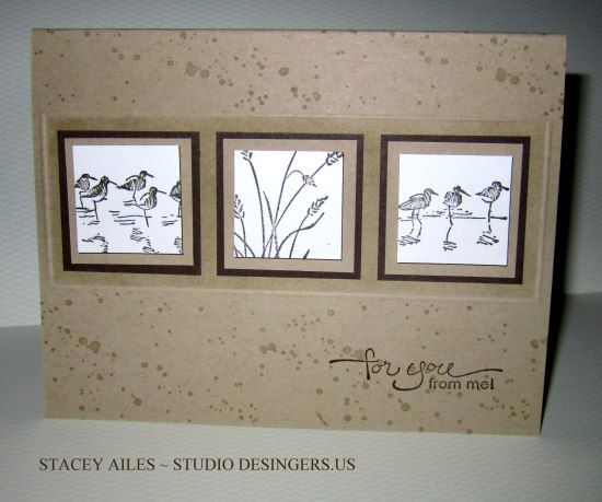 Stampin Up Wetlands, Gorgeous Grunge, A Word for You, Masculine, Father's Day, Thinking of You, beach, Studio Designers