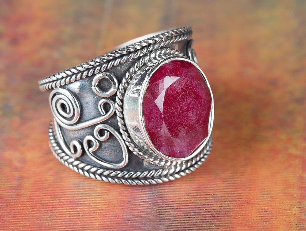 Ruby Ring 925 Silver Ring Daily Wear Ring Handmade Jewelry