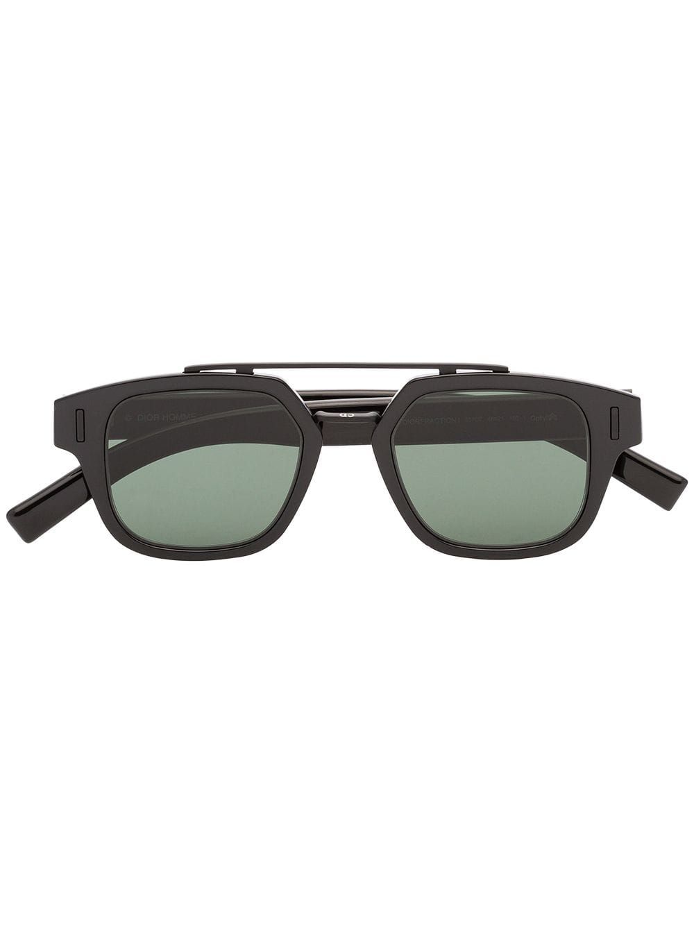 39c1f0e935c3 DIOR DIOR EYEWEAR FRACTION 1 DOUBLE-BRIDGE SUNGLASSES - BLACK.  dior ...