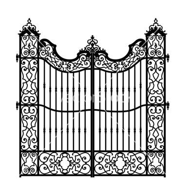 Vintage Swirled Gate Vector Image On With Images Wrought Iron