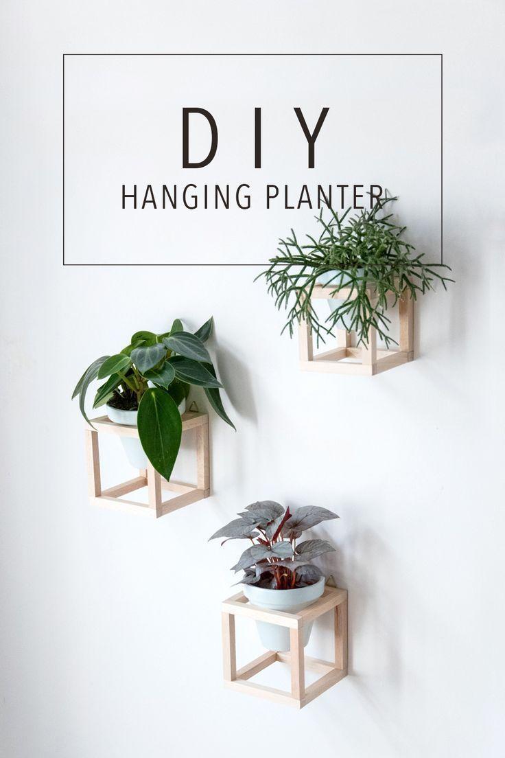 Wohnen mit Pflanzen  DIY hängende Pflanzenhalter Make this DIY hanging planter