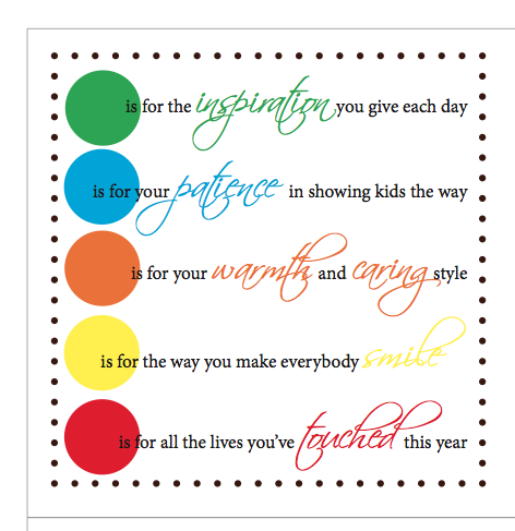 graphic relating to Girl Scout Cookie Thank You Notes Printable named Instructor Appreciation MM poem. Instructor Appreciation
