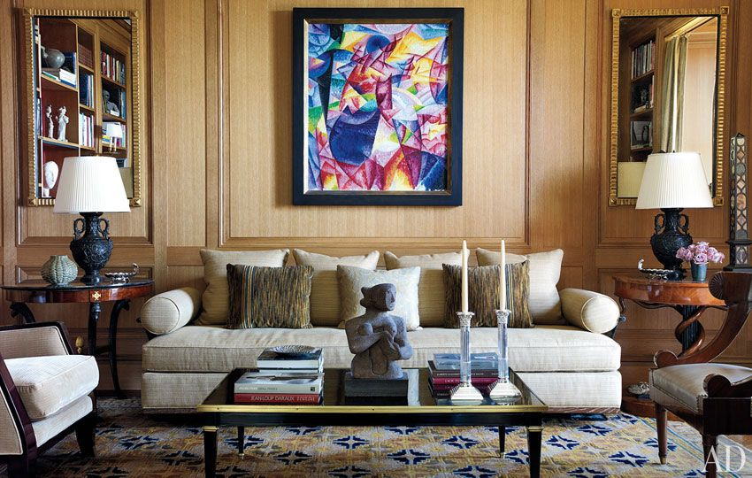 michael s smith decorates a grand manhattan home the library with on the far - Michael S Smith Interior Designer