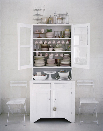 Need A Hutch Like This For Display Upstairsfairly Narrowdon't Stunning White Kitchen Hutch Design Ideas
