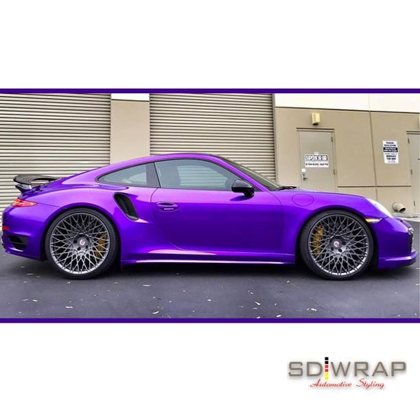 This Porsche is sweet as candy with a wrap in Arlon